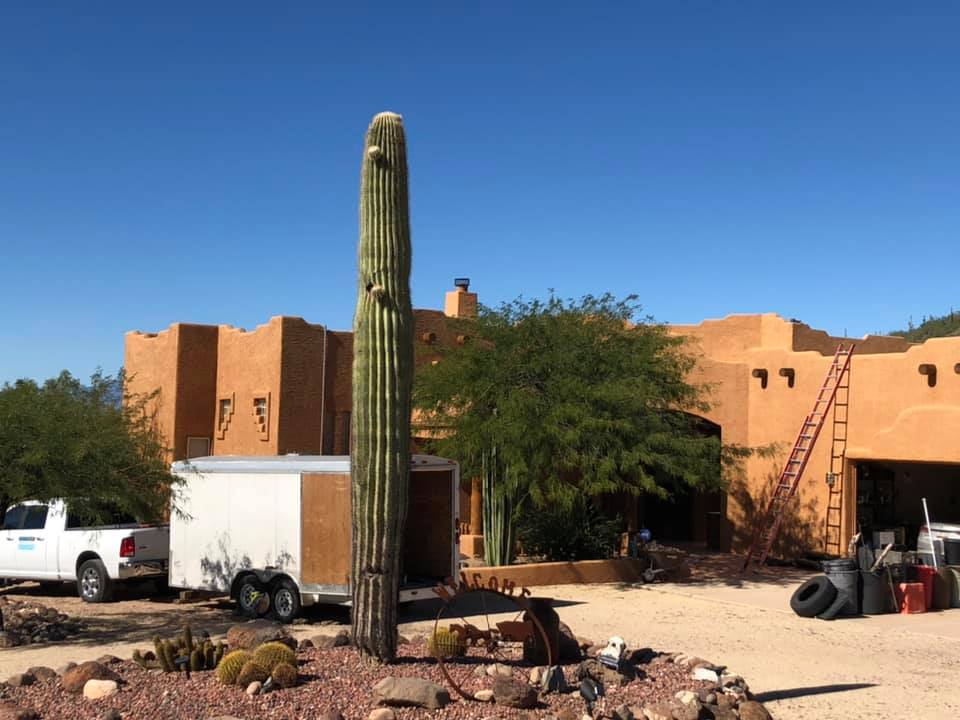 Flat Roof Solar install in New River, Arizona