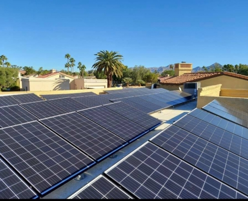 Flat roof solar added to home in Scottsdale