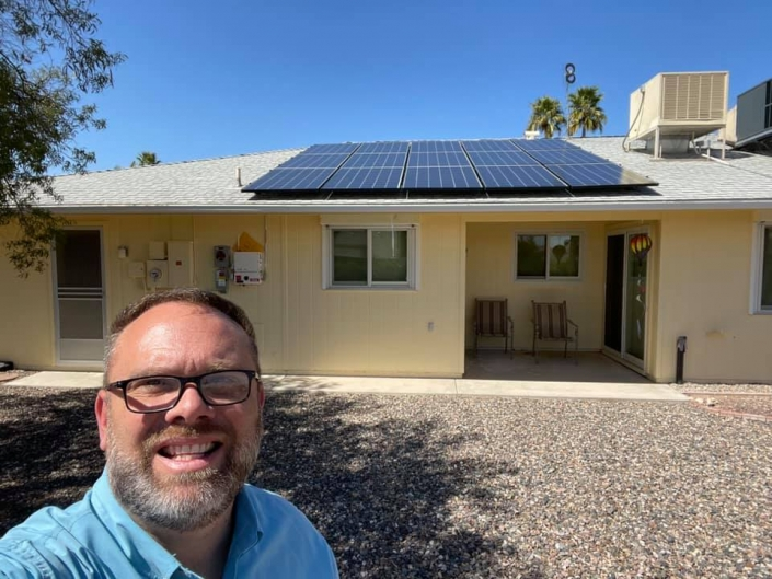 Residential Solar Project in Sun City West installed by AZ West Solar