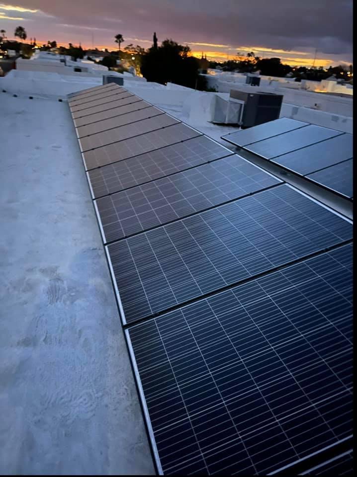 Residential Solar on a Flat Roof in Phoenix, Arizona